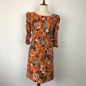 Laundry By Shelli Segal Ruched Sleeve Dress D686